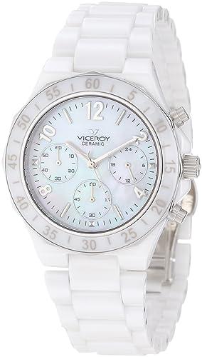 Viceroy 47600-05 - Reloj de Pulsera Mujer, Cerámica, Color Blanco: Amazon.es: Relojes