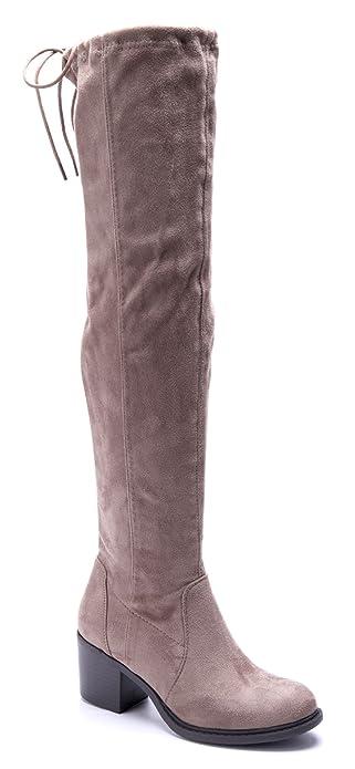 7130abc2299ab4 Damen Schuhe Klassische Stiefeletten Stiefel Boots Khaki Blockabsatz  Schnalle 6 cm Schuhtempel24 Günstige Verkaufspreise Zum Verkauf