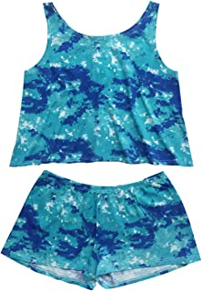 product image for Esme Girl's Beachwear Camisole Crop Top/Shorts Set