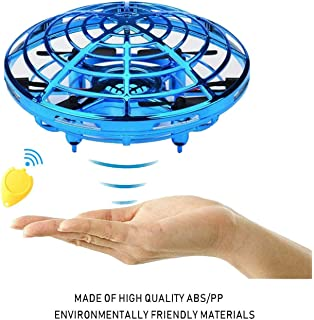 A MOGOI Hand Operated Drone for Kids Toddlers Adults UFO Mini Drones Flying Drones Induction Toys Gesture Controlled Indoor Outdoor Fun Toys Gifts for Boys Girls Age 5 6 7 8 9 10