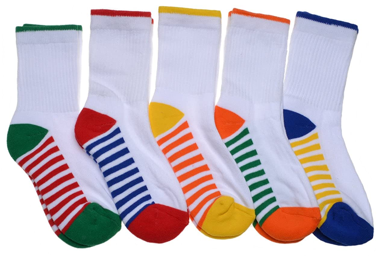 5 pairs of Childrens White Sports socks