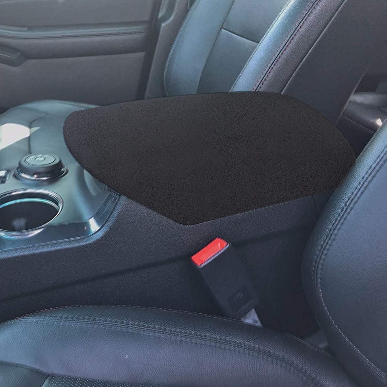 Sporthfish Big Black Center Console Armrest Soft Pad Protector Cover Compatible for Ford Explorer 2011-2018 SUV