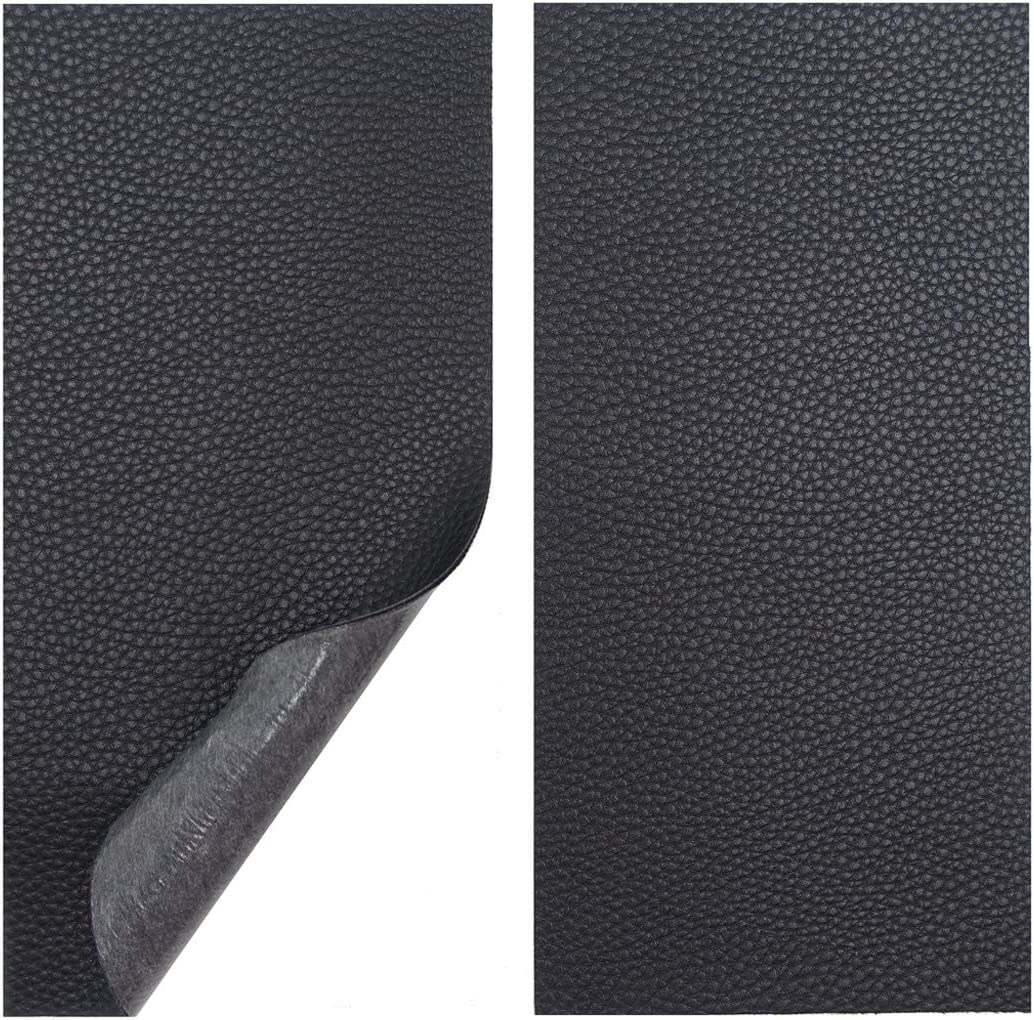 Leather Repair Kits for Couches and Cars, Leather Repair Patches Super-Thin Vinyl Repair kit 2 PCS Black