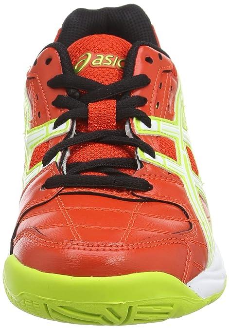 Asics Gel-Squad GS - Zapatillas de Deporte Interior para Niños, Color Rojo (Cherry Tomato/White/Black 2101), Talla 33.5