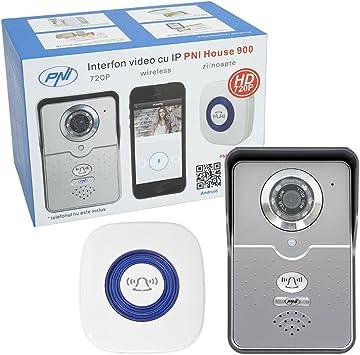 Videoportero WiFi Alexa Mirilla Puerta WiFi Movil 720P HD con Visi/ón Nocturna,Detecci/ón de Movimiento PIR y Audio BidireccionalWhite A Timbre Video Inal/ámbrico Exterior Impermeable