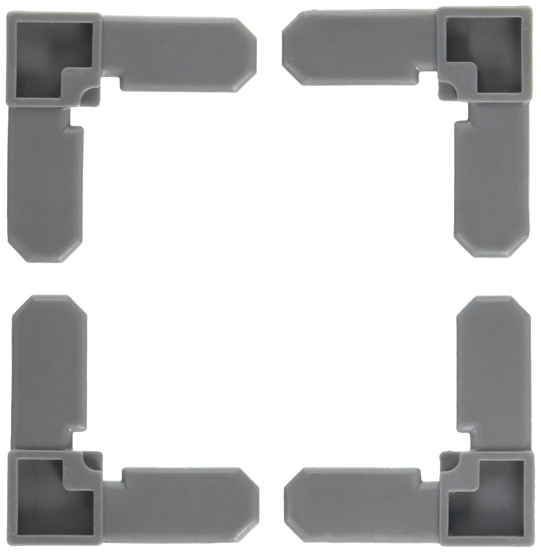 Prime Line Products PL 14258 100PK 3 4x7 16 Corner 3 4 x 7 16 Gray