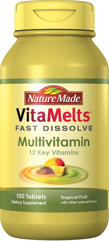 Nature Made VitaMelts Fast Dissolve Multivitamin 12 Key Vitamins 100ct