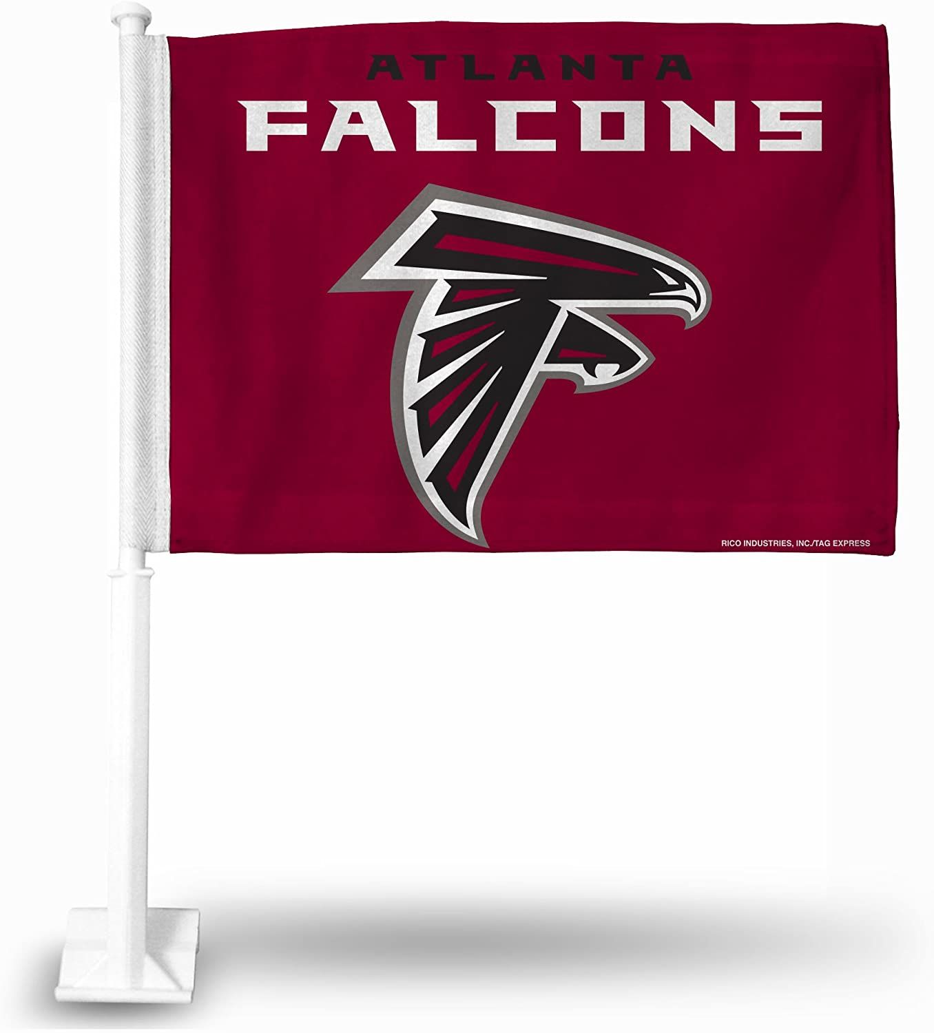 Rico Industries Atlanta Falcons Red Background Car Flag Atlanta Falcons Red Background Car Flag
