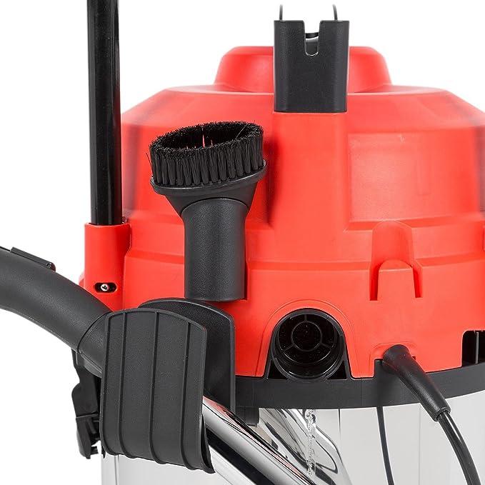 Waldbeck Dervish - Aspirador en húmedo y en seco , Aspiradora Industrial , Aspiradora 3 en 1 , 1200 W , Sistema de protección IPX4 , Depósito de 25 ...