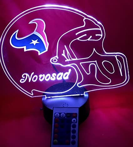 Houston Texans NFL Licensed Logo on Beautiful Acrylic LED Lamp Personalized  Football Light Up Light LED Table Lamp, Our Newest Feature - It's Wow,