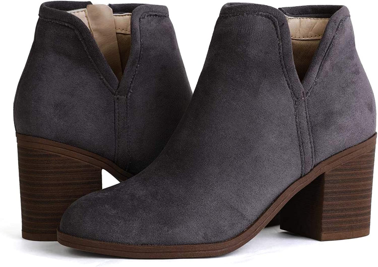 PiePieBuy Womens Ankle Boots Chunky