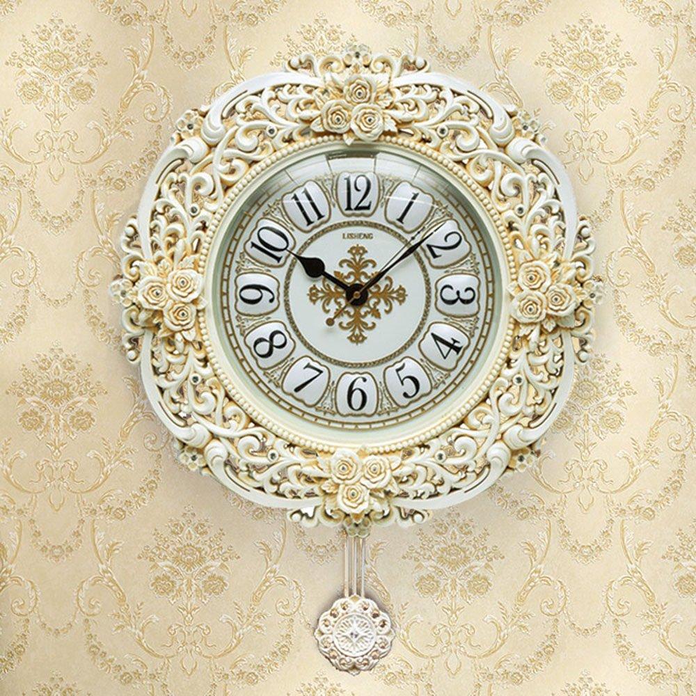 ALUPアメリカのレトロプラスチックミュートの壁時計、モダンなリビングルームの寝室の装飾の壁のペンダント (色 : #2, サイズ さいず : 51.5*10.5*66.5cm) B07F3GCB3H 51.5*10.5*66.5cm|#2 #2 51.5*10.5*66.5cm