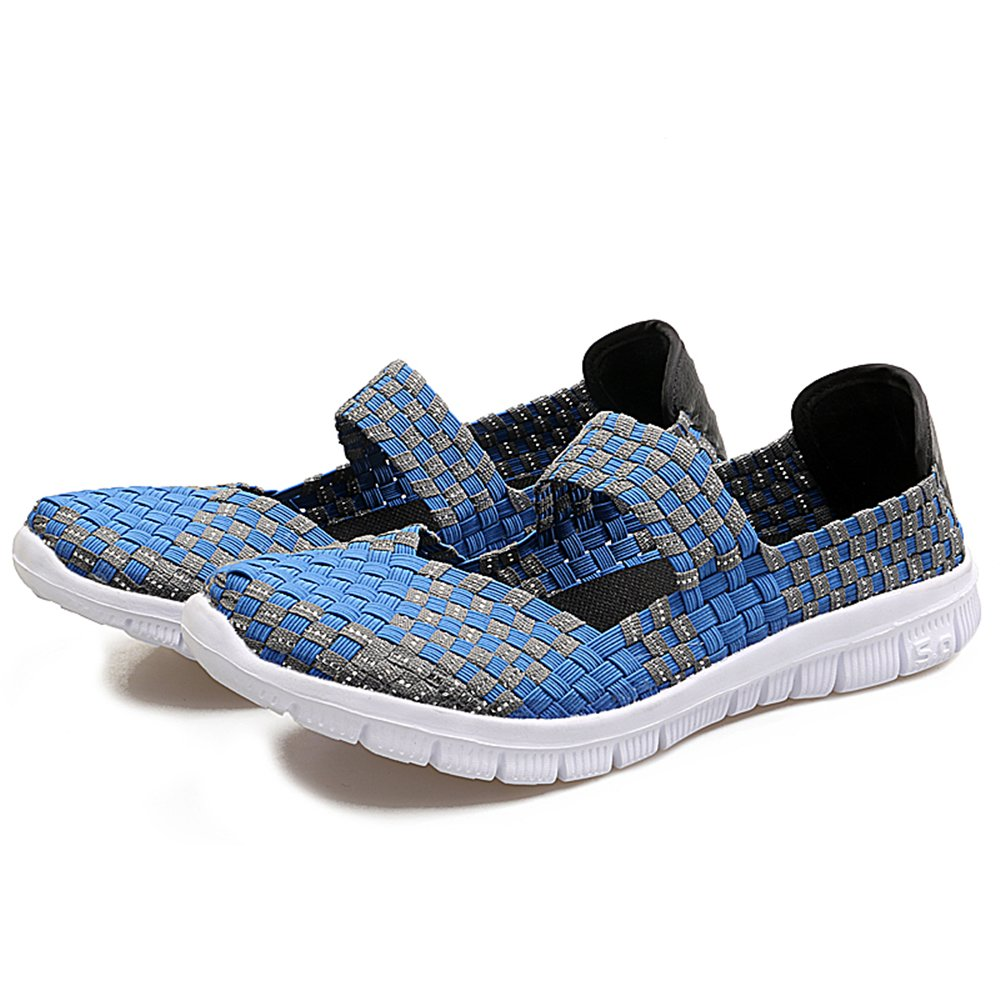 YMY Women's Woven Sneakers Casual Lightweight Sneakers - Breathable Running Shoes B07DY2BZ3G US B(M) 6.5 Women|Blue