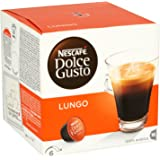 Nescafe Dolce Gusto Cafe Lungo, 16 Capsules - Pack of 3 (48 Coffee Pods, Total 48 Capsules, 48 Servings)