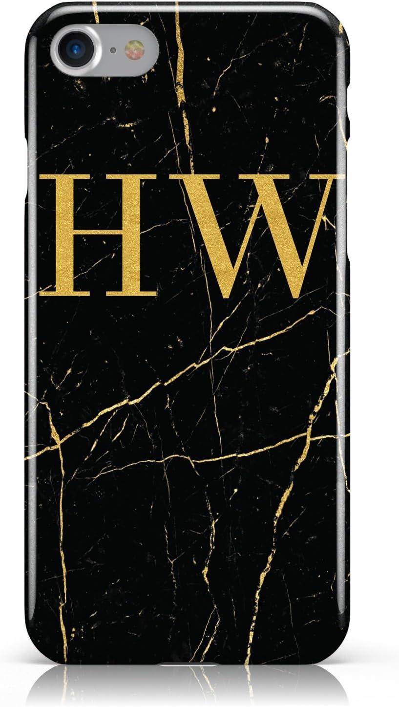Personalised Gold Marble Monogram Initials Mobile Phone Amazon Co Uk Electronics