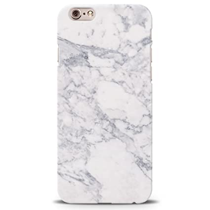 e475354abc Image Unavailable. Image not available for. Colour: Koveru Designer Printed  White Marble Back Cover Case for iPhone 6/6S