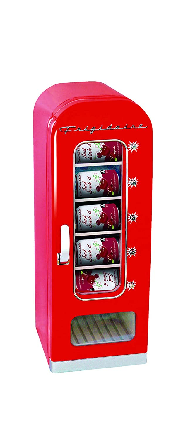 Frigidaire EFMIS045-RED 10-Can Vending Machine Can Dispenser and Beverage Cooler, Red