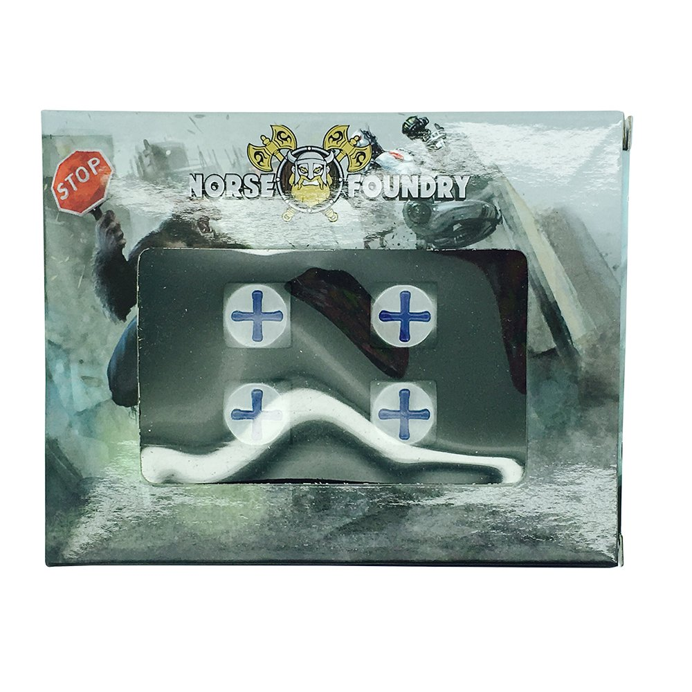 Fate Dice by Norse Foundry 4 Pack of Metal Dice Atomic Metal
