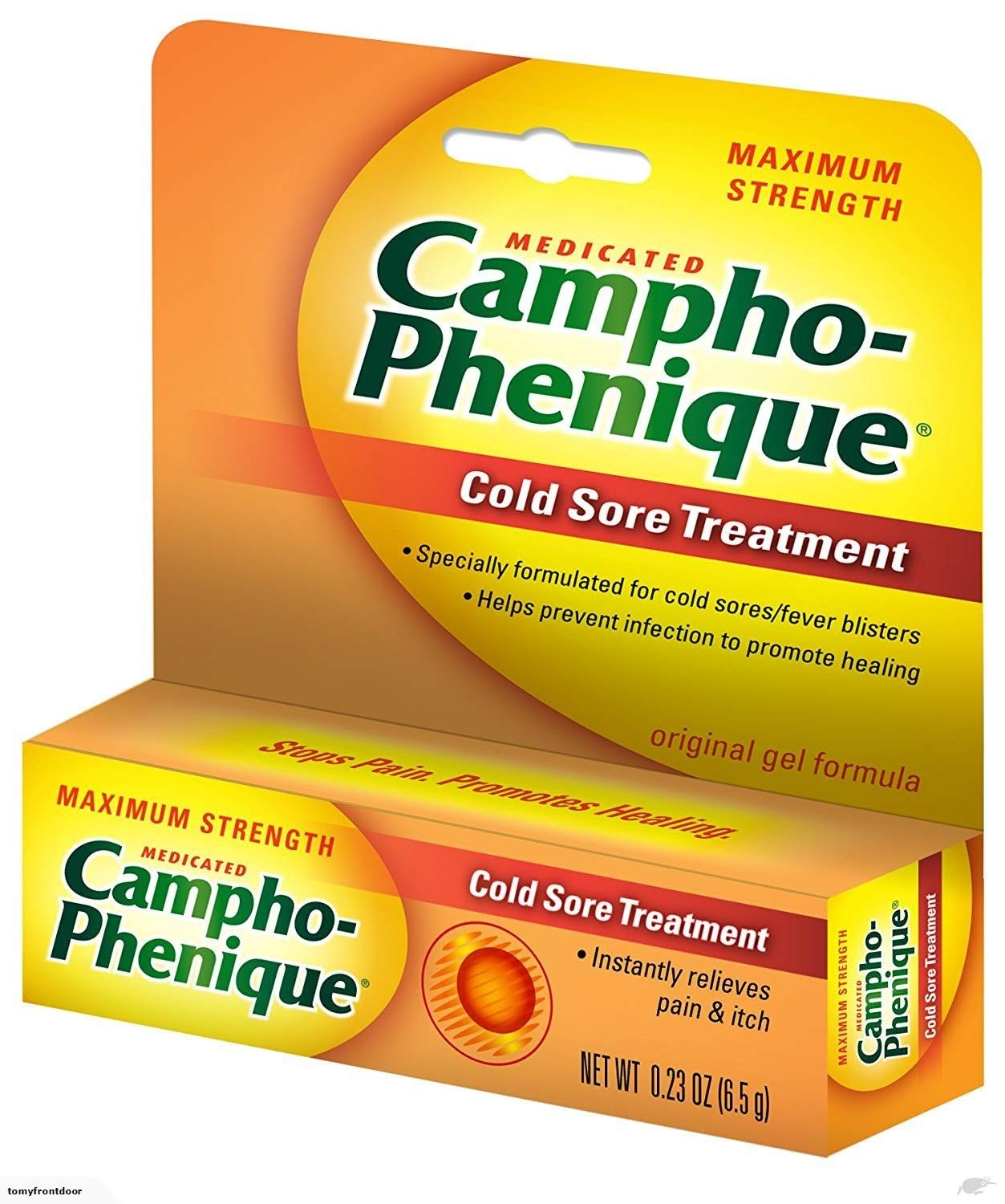 Campho-PheniqueAntiseptic Gel For Cold Sores-0.23 oz. (Pack of 5)
