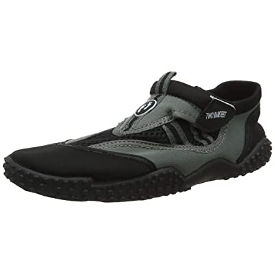 Two Bare Feet Aqua Shoes - Wet Shoes Adults and Children's Neoprene Water Shoes, Black/Grey, Infants C8: Clothing