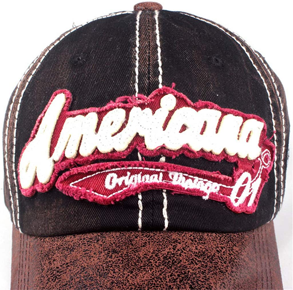 Topgrowth Cappello Cappello con Visiera Cowboy Uomo Unisex Baseball Cappelli Sportivi Ricamo Classico Cappello Visiera Piatta Cappello