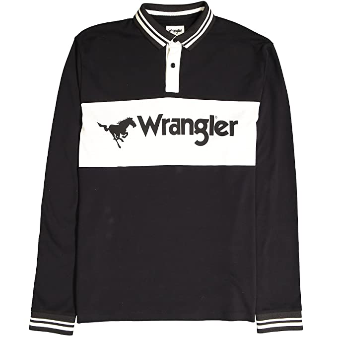 Wrangler - Camisa Casual - Manga Larga - para Hombre Negro Negro (M