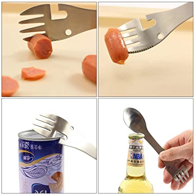 Portable Camping Hike Cook Picnic Foldable`Spork Stainless Steel Fork Spoon G4