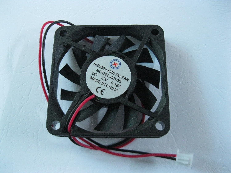 1 Pcs DC Fan 12V 6010 2 Pin 60x60x10mm Brushless DC Cooling Blade ...