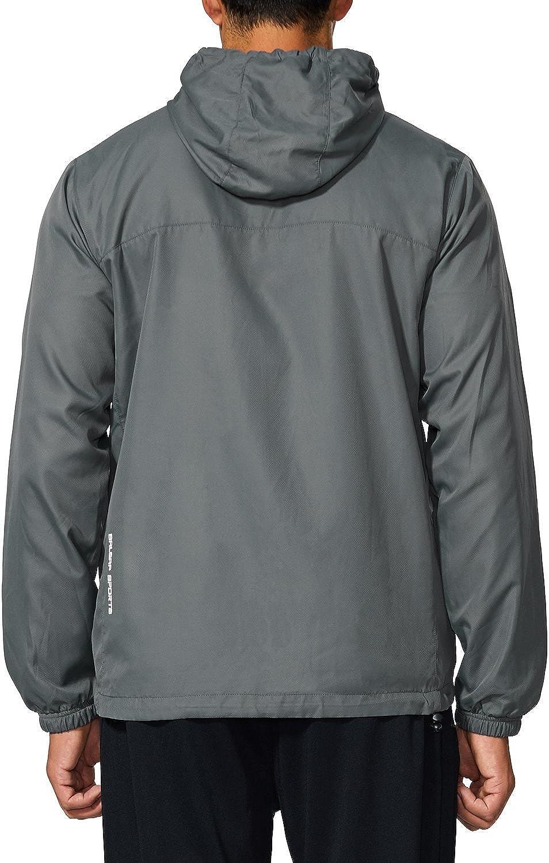 BALEAF Mens Sports Windbreaker Running Track Workout Jackets Lightweight Water Resistant Jackets Zip Pockets