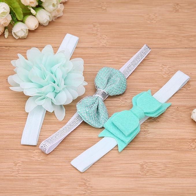 3PCS Set Baby Kinder Stirnband Schleife Haarband Mädchen Haarschmuck Farbwahl