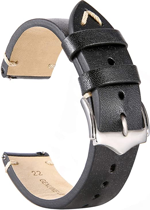 Men Faux Leather Lichee Pattern No-Pin Buckle Belts Double Sides Stitching Strap