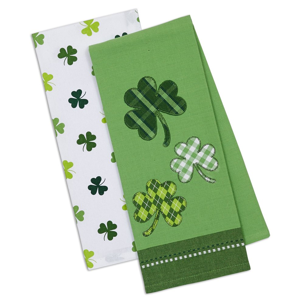 "DII Cotton Holiday Dish Towels, 18x28"" Set of 2, Decorative Oversized Kitchen Towels, Perfect Home and Kitchen Gift-St Patrick's Day"