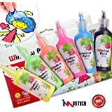 iMustech Window Paint, 6 Cols Glass Window Color Paint,Window Paint Set, Fluorescent Window Paint Kit, Art Paint, Glass Paint for Artists, Excellent Painting Supplies for Canvas, Glass, Model, Window