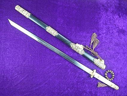 Longquan sword/Hollow Tang dao Sword sale/Damascus steel