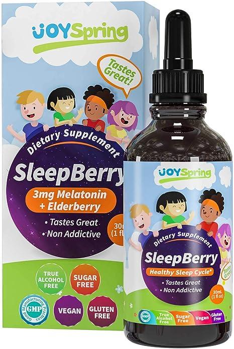 Amazon.com: SleepBerry Melatonina líquida para niños – Ayuda ...
