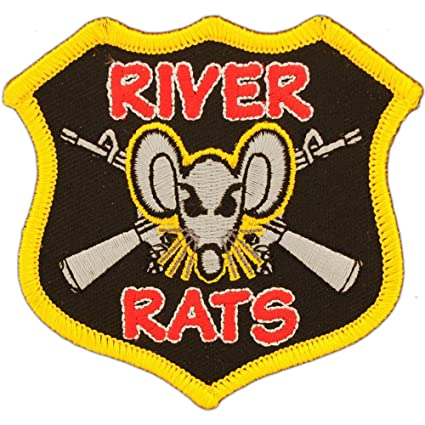 Vietnam River Rats Patch Black /& Red 3/""