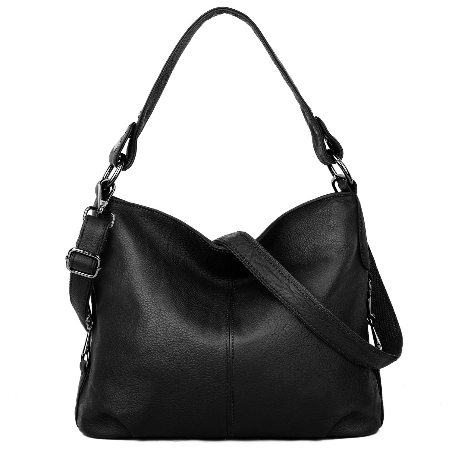 Amazon.com  YALUXE Women s Stylish Genuine Leather Tote Travel Shoulder Bag  Handle bag Bags for Women black  Shoes 29f72e1d1a72f