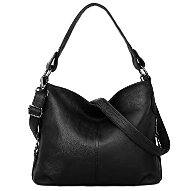 d4afdc41064e YALUXE Women's Stylish Genuine Leather Tote Travel Shoulder Bag Handle bag  Bags for Women black