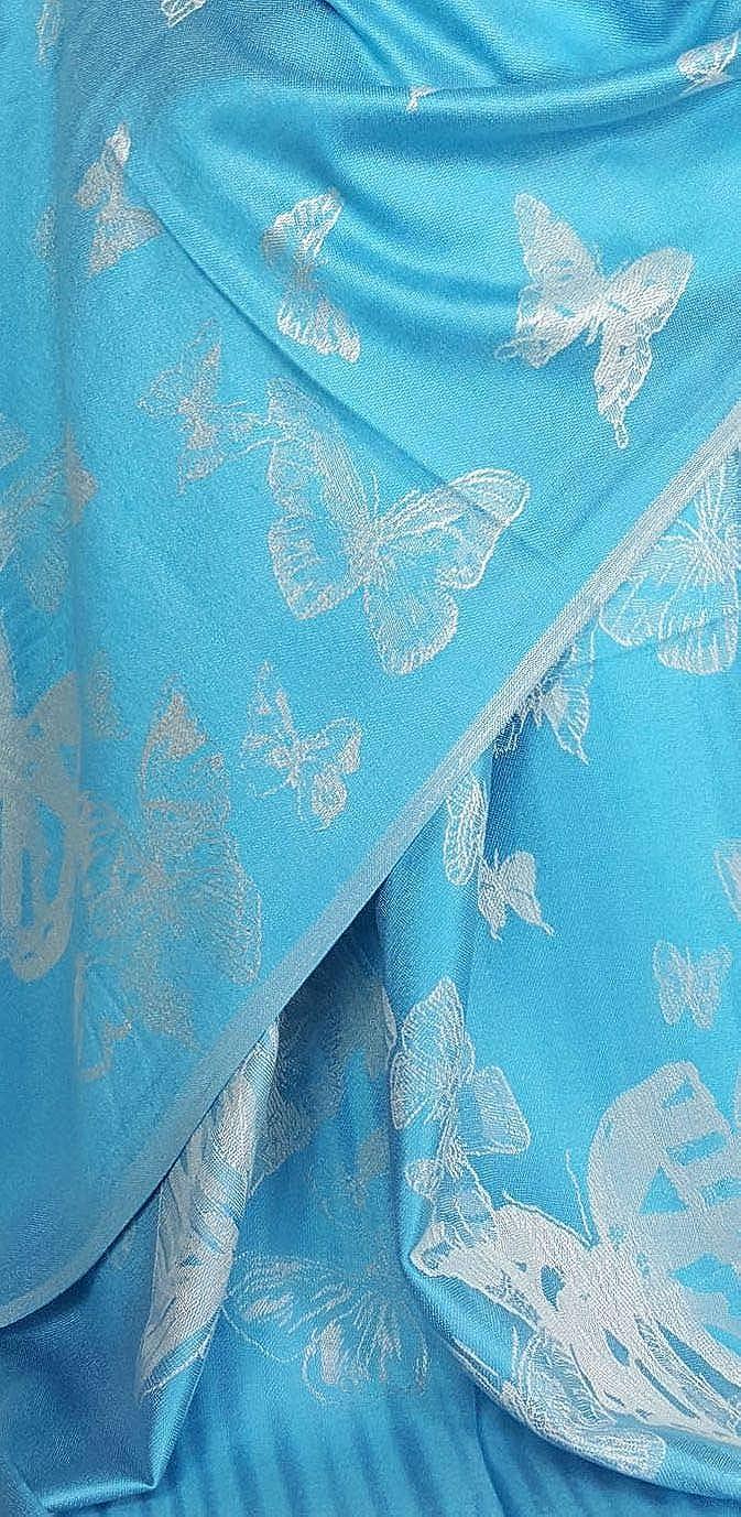 BFPASH GFM Disegno della farfalla sciarpa in stile pashmina