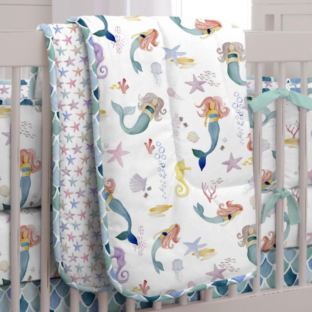 Carousel Designs Mermaids and Starfish Crib Comforter by Carousel Designs