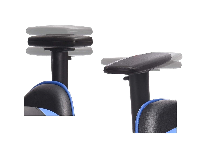 XPELKYS Racing Silla,Silla Gaming Oficina Silla Computadora,Ergonomico Altura Ajustable y Inclinable Azul