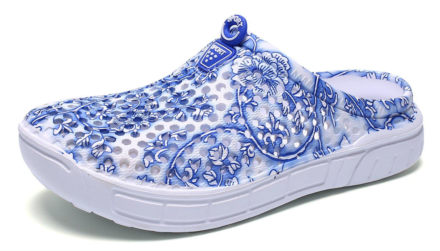 Eagsouni Unisex Men Women Garden Clogs Shoes Casual Slippers Summer Quick Drying Anti-Slip Beach Walking Sandals (8.5 B(M) US Women / 39 EU, Blue)