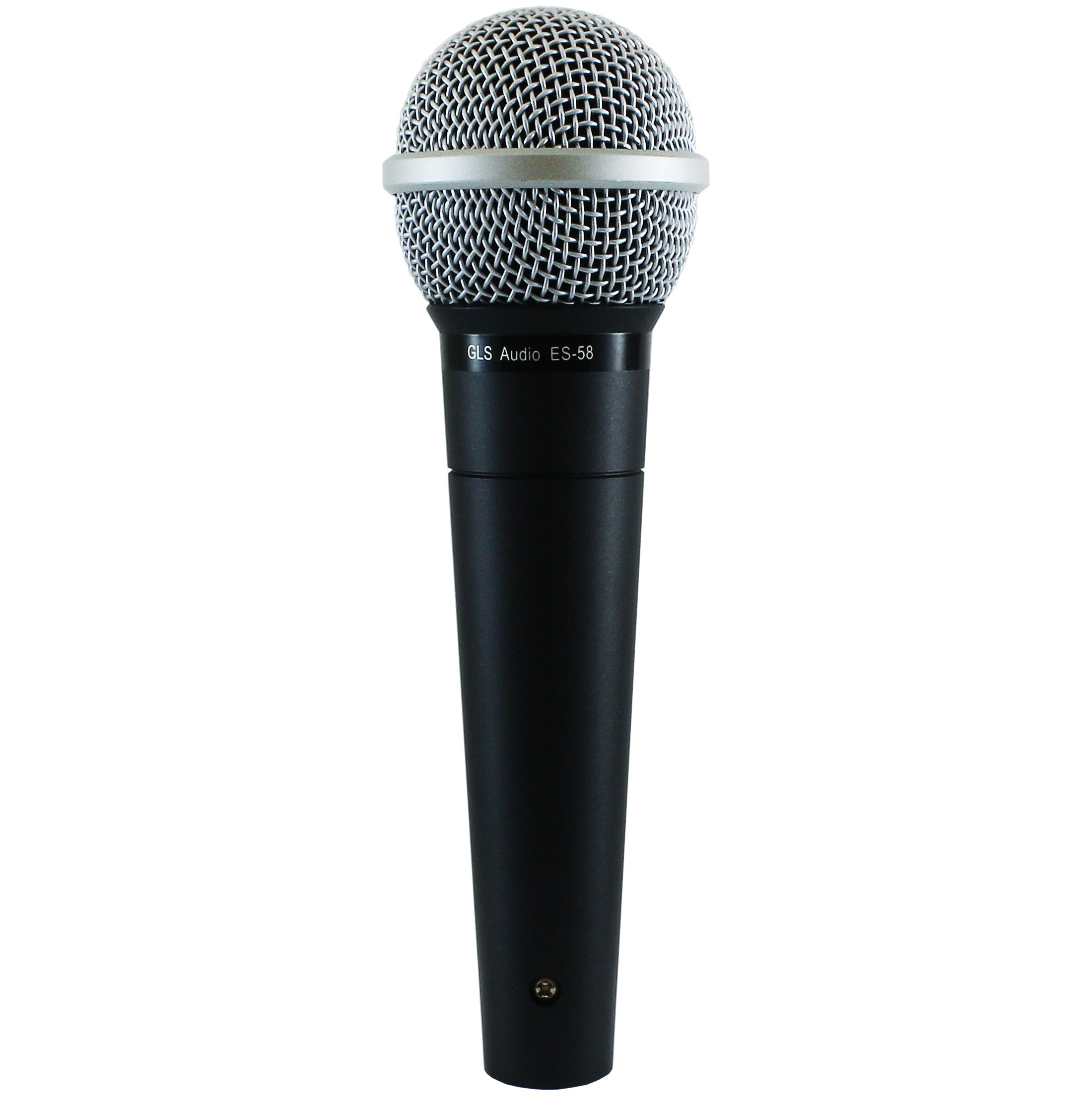 GLS Audio Vocal Microphone ES-58 & Mic Clip - Professional Series ES58 Dynamic Cardioid Mike Unidirectional (No On/Off Switch) by GLS Audio