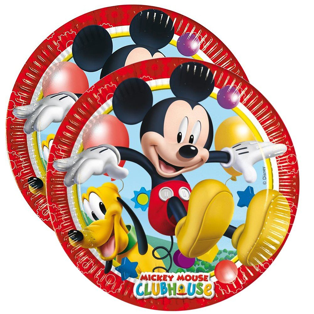 Mickey Mouse Placas de Papel Globo | 8 Piezas | Disney ...