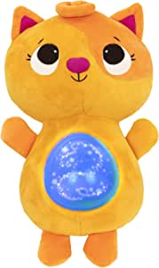 B. toys by Battat Soothing Plush Cat – Twinkle Tummies – Musical Stuffed Animal Toy – Lights & Sounds – for Babies & Toddlers – Glowing Tummy & 6 Lullabies – 6 Months +