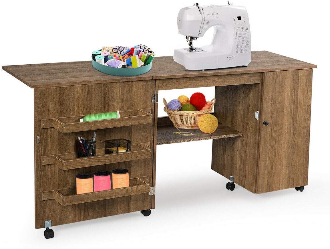 - Amazon.com: Giantex Folding Sewing Table, Multifunction Large