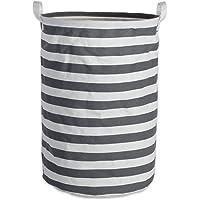 Cesto de roupa DII de algodão/poliéster revestido com PE, cinza