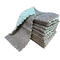 kimteny 12 Pack Kitchen Cloth Dish Towels, Premium Dishcloths, Super Absorbent Coral Velvet Dishtowels, Nonstick Oil…