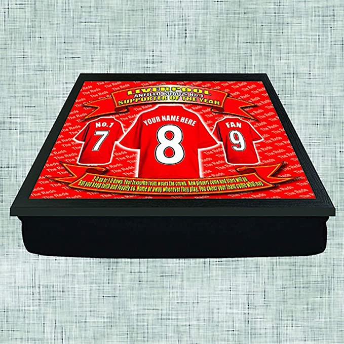 Liverpool Football Shirt Personalised Lap Tray Gift