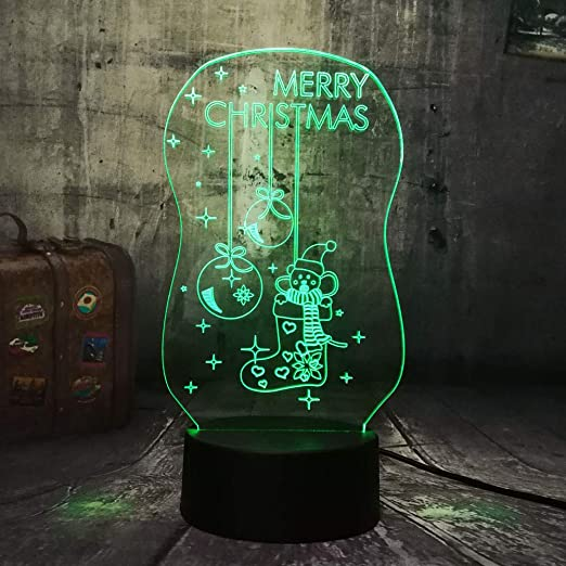 wangZJ Lámpara de ilusión visual 3d / 7 luces de noche que ...